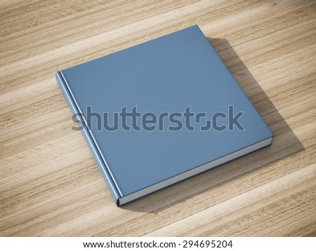 Blue book on the table - stock photo
