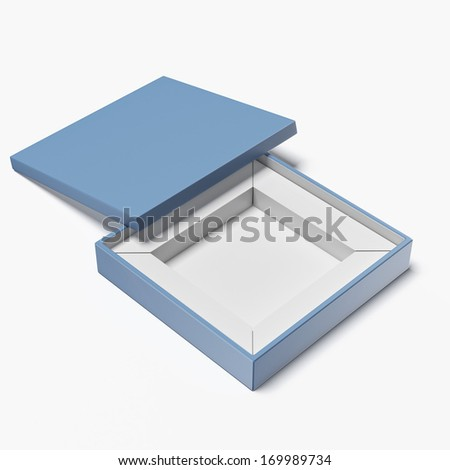 Blue box - stock photo