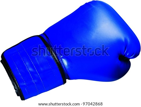 Blue boxing glove