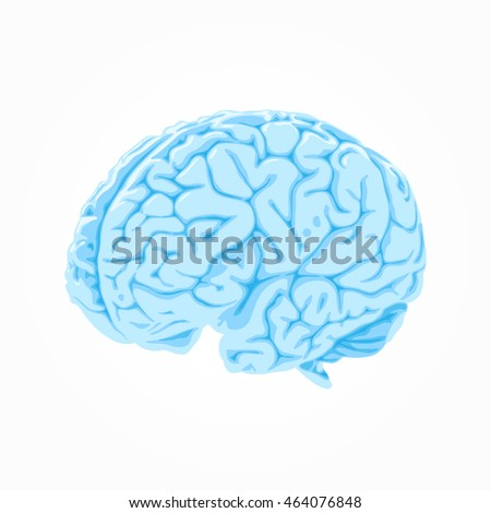 Blue brain icon - illustration