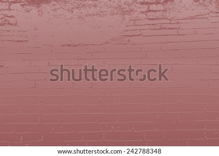 Blue brick wall effect background - stock photo