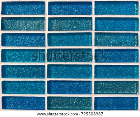 Blue bricks glass for background and texture
