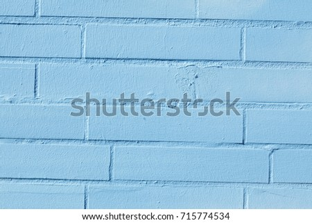 Blue  Bricks in a Wall