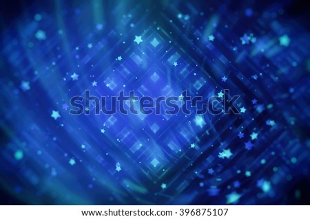 Blue bright abstract background with stars