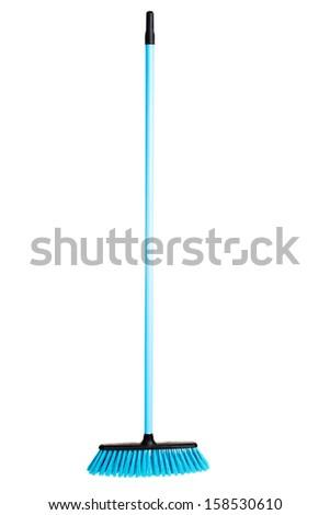 Blue broom - stock photo