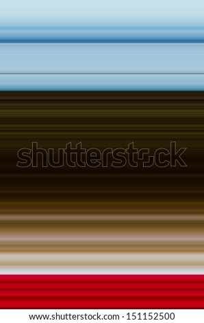 Blue Brown and Red Striped Background - stock photo
