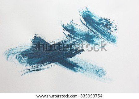 Blue Brush Stroke 2 - stock photo