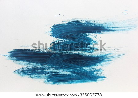 Blue Brush Stroke 5 - stock photo