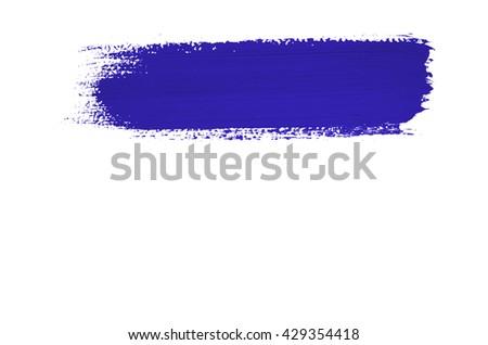Blue brush stroke isolated on background - stock photo