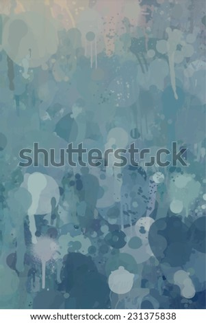 Blue brush stroke paint. Abstract illustration. - stock photo