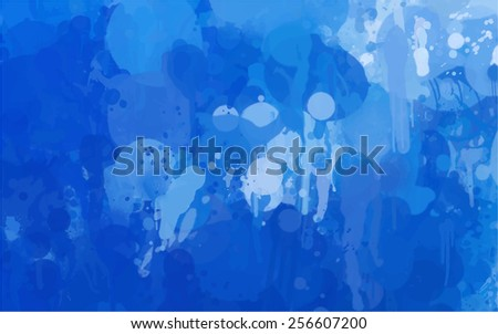 Blue brush strokes background. Raster version - stock photo
