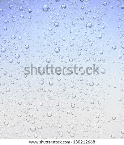 blue bubble droplet texture background - stock photo