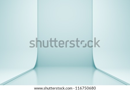 Blue Building Construction - stock photo