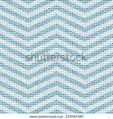 blue burlap texture digital paper with chevron - tileable - stock photo