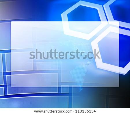 Blue Business Background Window - stock photo