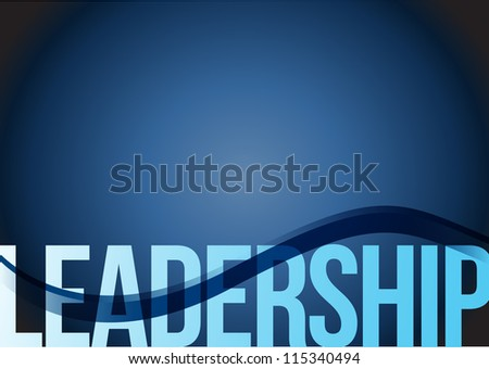 Blue business leadership background with waves illustration - stock photo