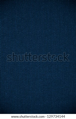blue canvas background or grid pattern woven texture - stock photo