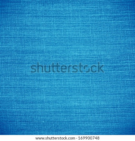 blue canvas texture or stripe pattern linen background - stock photo