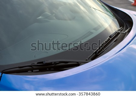 blue car wipers