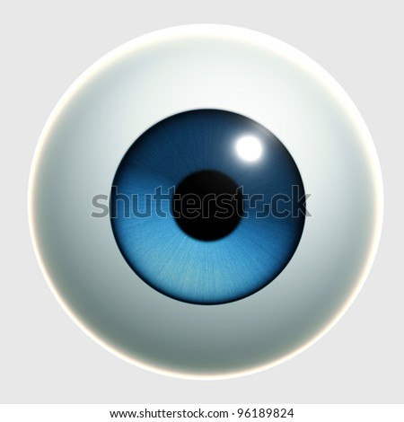 blue cartoon eye