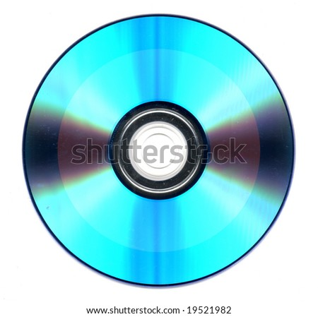 blue cd flat on a white background