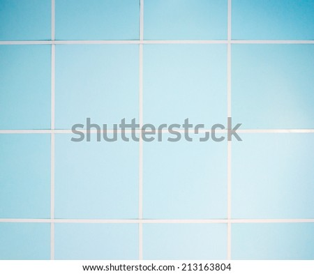 Blue ceiling of the small office in the capital city. - stock photo