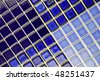 blue ceramic mosaic tiles - stock photo