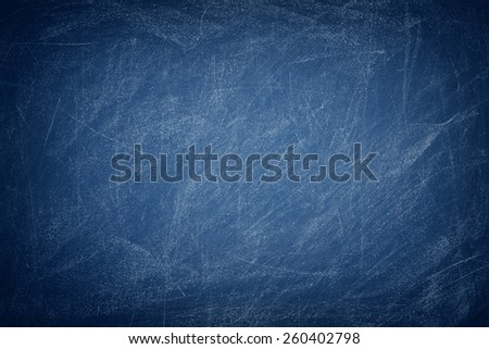 Blue chalkboard / blackboard - stock photo