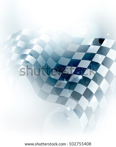 Blue Checkered Background, bitmap copy - stock photo