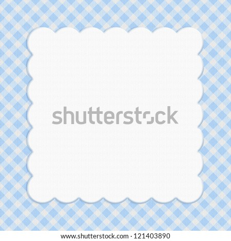 Blue checkered celebration frame for your message or invitation with copy-space in the middle - stock photo