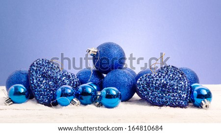 blue christmas against blue background