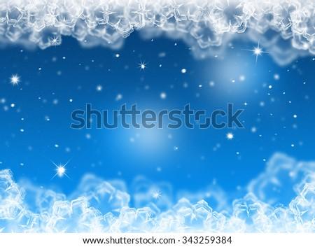 Blue Christmas background. Winter holiday. New year background  - stock photo