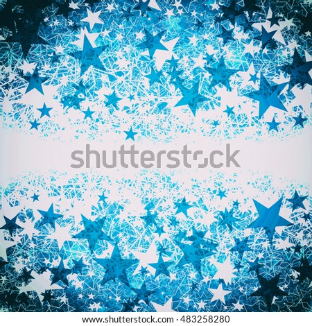 blue christmas background with white stars