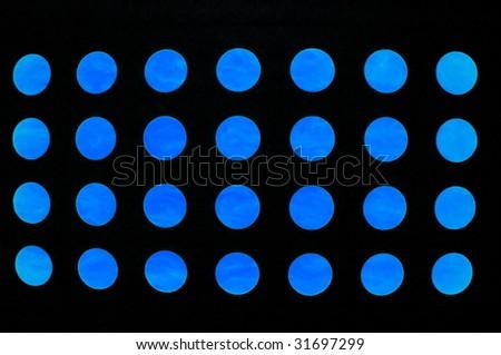 blue circles on black background - stock photo