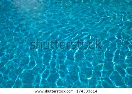 blue clear water detail from a swimming pool