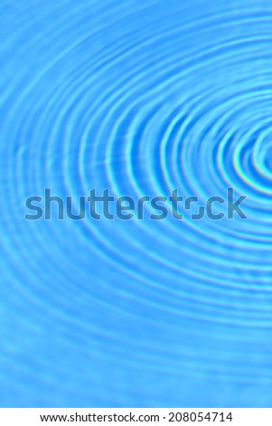 Blue clear water round ripples vertical side background