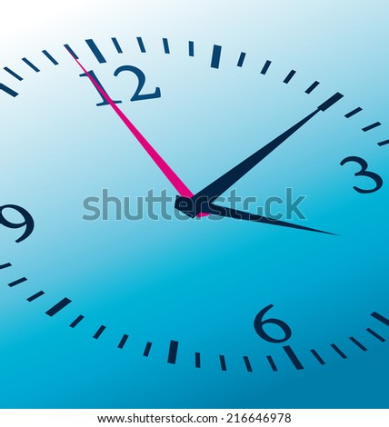 Blue clock concept. Close-up illustration.  - stock photo