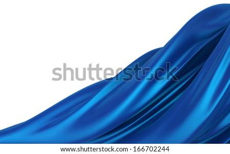 Blue cloth - stock photo