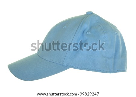 Blue cloth cap; isolated on white background