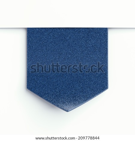 blue  clothing label  - stock photo