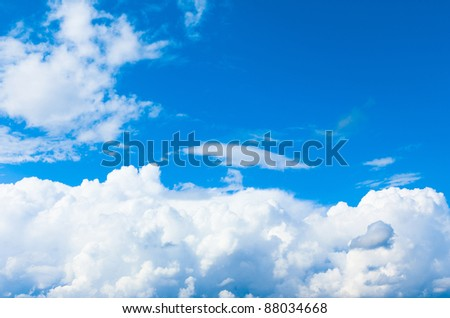 Blue Clouds Skies - stock photo