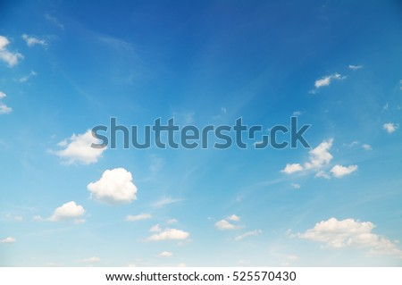 blue cloudy sky background.Light blue sky with clouds, may be used as background.Beautiful Blue Sky Background Template With Some Space for Input Text Message.