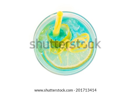 Blue Cocktail - stock photo