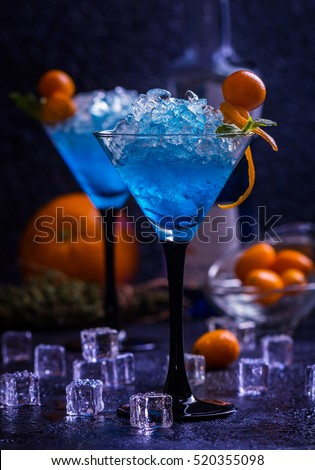 Margarita cocktail lime on nature background stock photo for Orange and blue cocktails