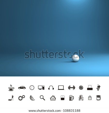 Blue cold background. - stock photo