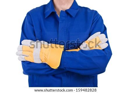 Blue collar worker.  - stock photo