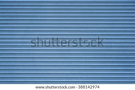 Blue color metal sheet material roller gate/door - stock photo