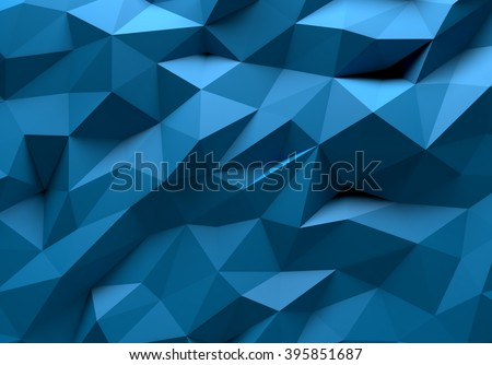 Blue color triangle geometrical background