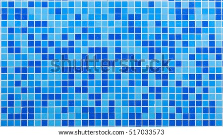 Blue colored mosaic background tiles