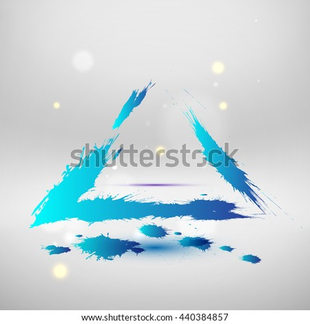 Blue colored wave design. Abstract background. Raster copy